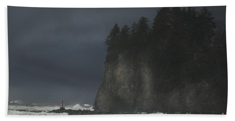 Storm Bath Sheet featuring the photograph Storm At Lapush Washington State by Yulia Kazansky