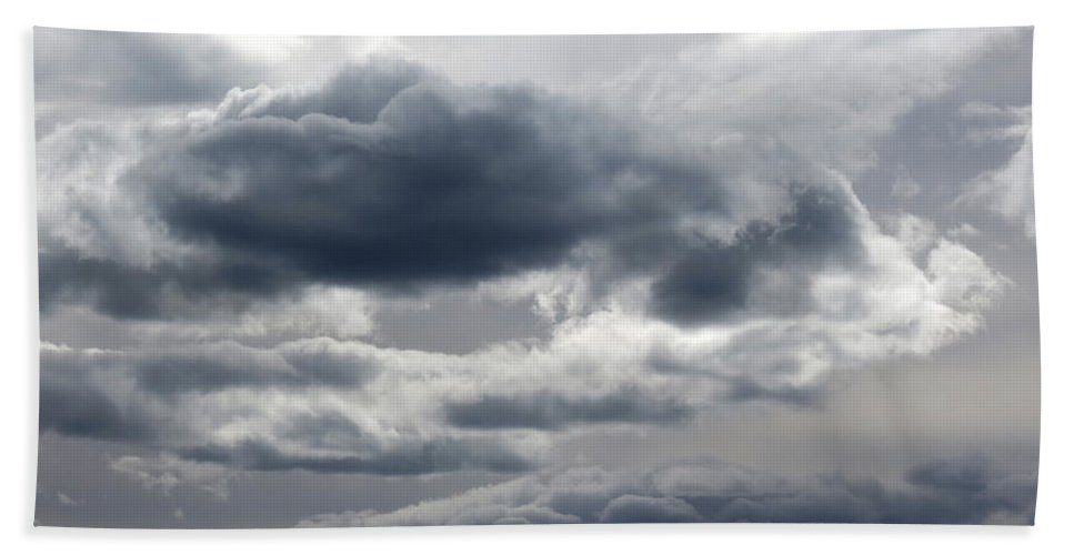 Storm Bath Sheet featuring the photograph Stormy Day by Laurel Powell