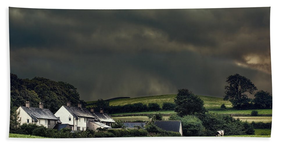 Rural Bath Sheet featuring the photograph Stormy Hamlet by Amanda Elwell