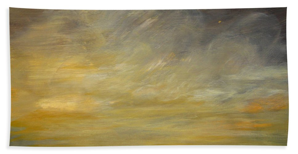 Stormy Bath Sheet featuring the painting Stormy Sky by Alina Cristina Frent