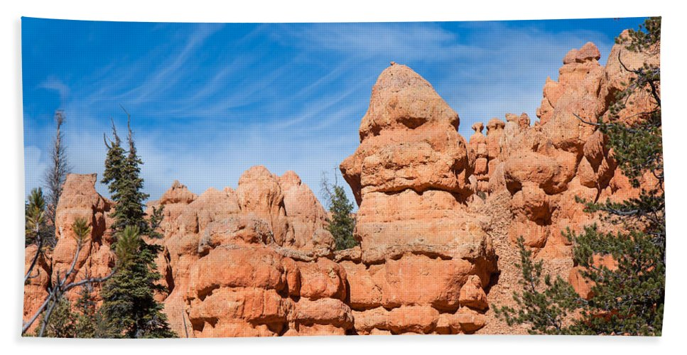 Landscape Hand Towel featuring the photograph Strange Carvings by John M Bailey