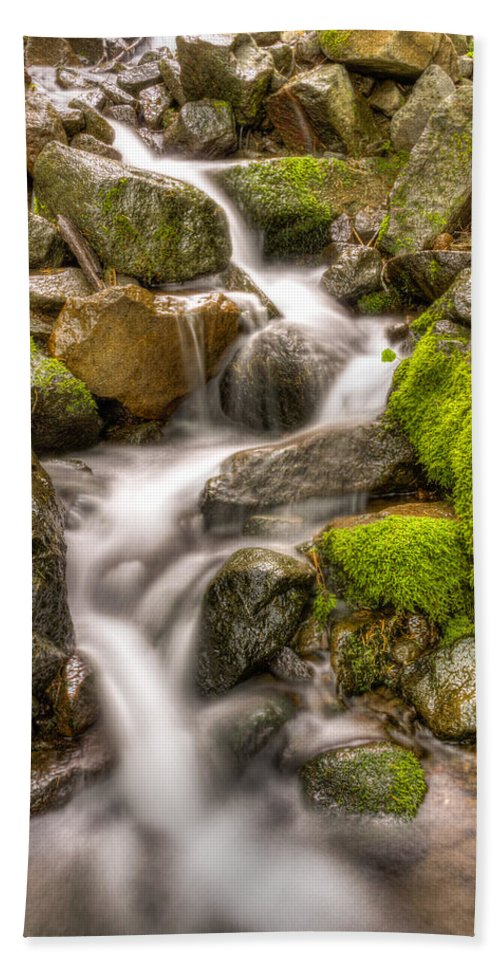 Mt Hood National Forest Hand Towel featuring the photograph Stranger Falls #11 by John Trax