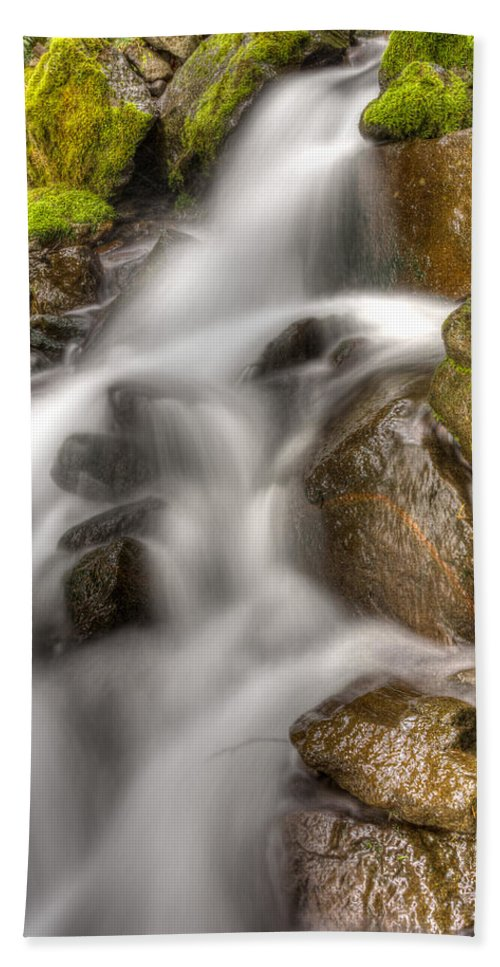 Mt Hood National Forest Bath Sheet featuring the photograph Stranger Falls #8 by John Trax