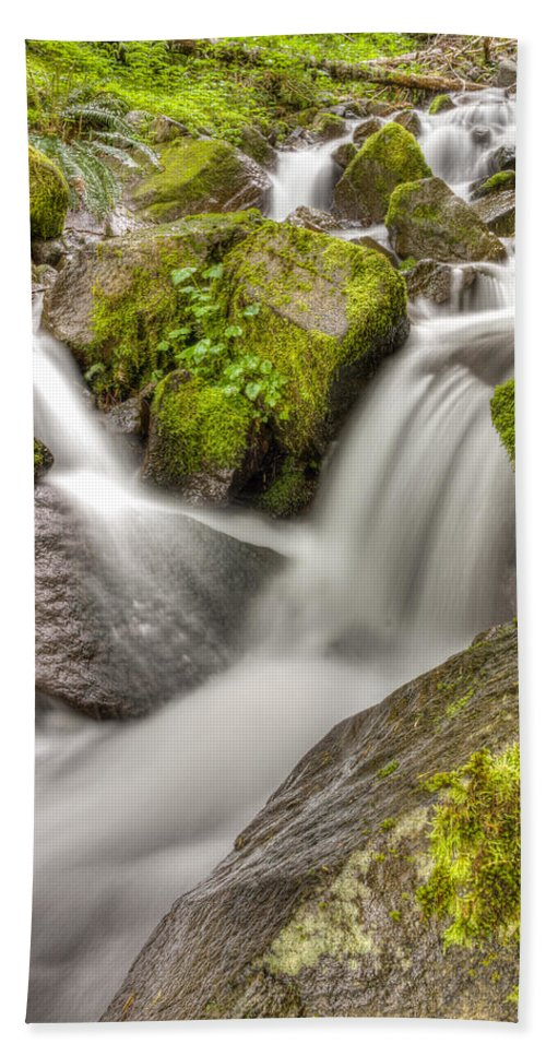Mt Hood National Forest Hand Towel featuring the photograph Stranger Falls #9 by John Trax