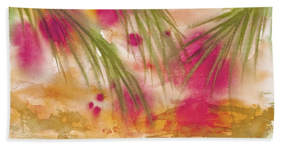 Abstract Hand Towel featuring the painting Strawberry Moon by Darice Machel McGuire