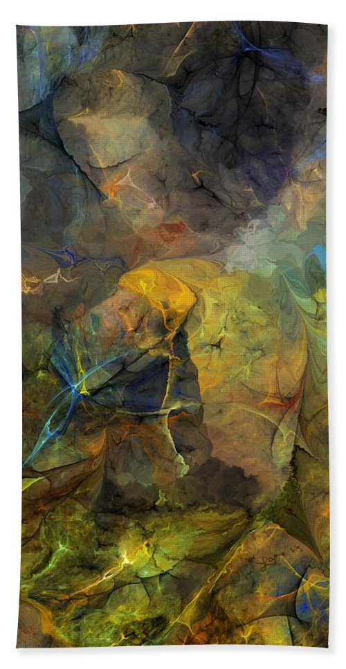 Fine Art Bath Sheet featuring the digital art Stream Bed On A Sunny Day by David Lane