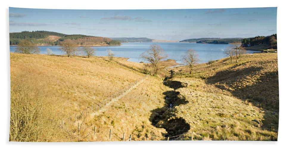 Northumberland Bath Sheet featuring the photograph Stream To Kielder Water by David Head