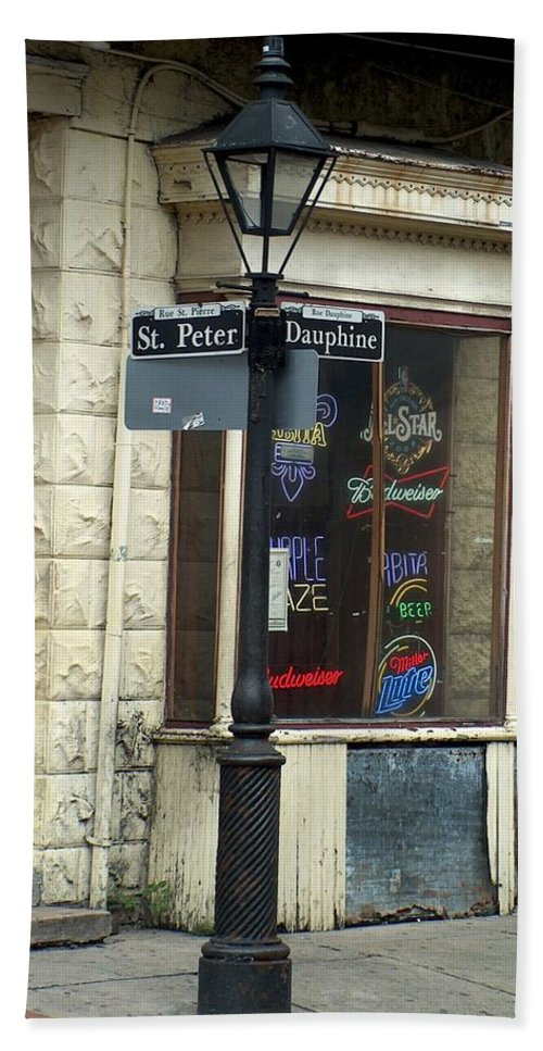 New Orleans Hand Towel featuring the photograph Street Corner In New Orleans by Richard Booth