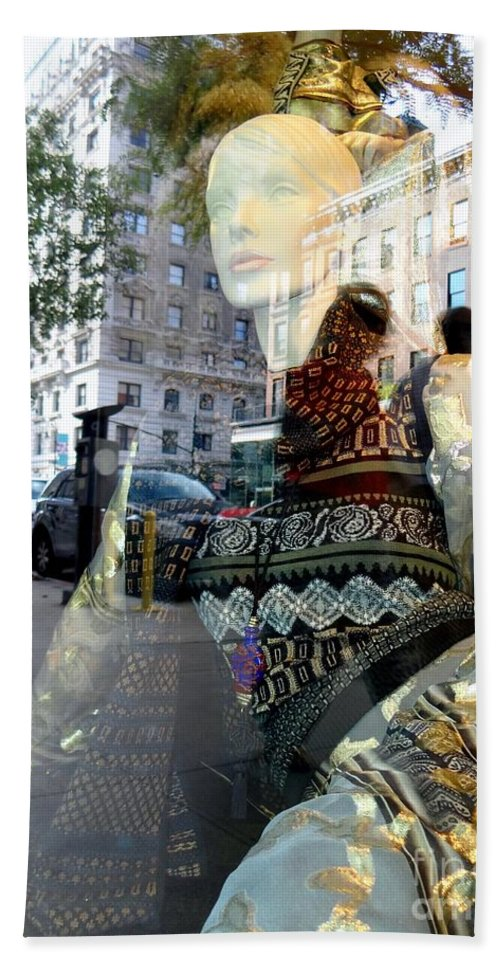 Mannequins Bath Sheet featuring the photograph Street Fashion by Ed Weidman