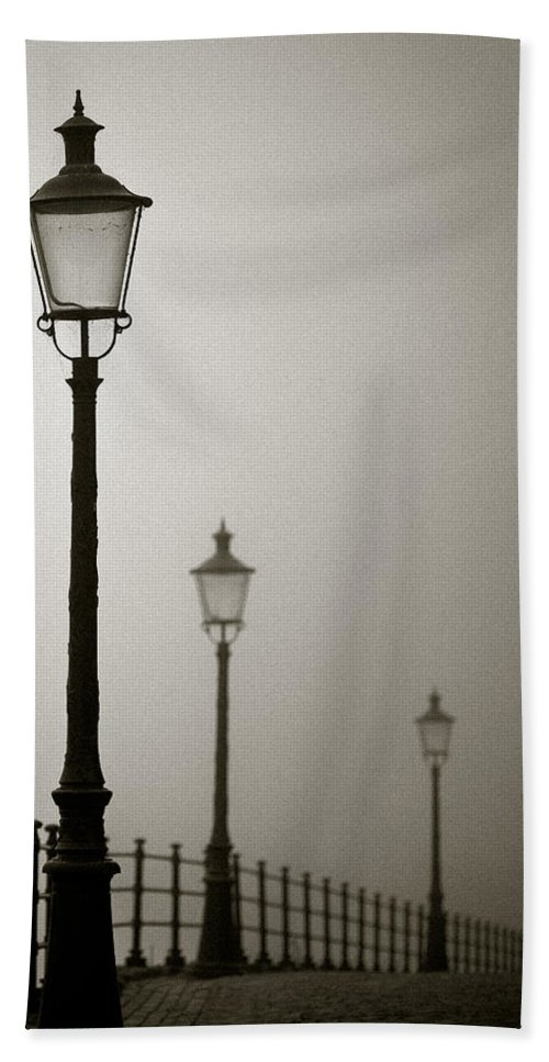 Maastricht Bath Sheet featuring the photograph Street Lamps by Dave Bowman