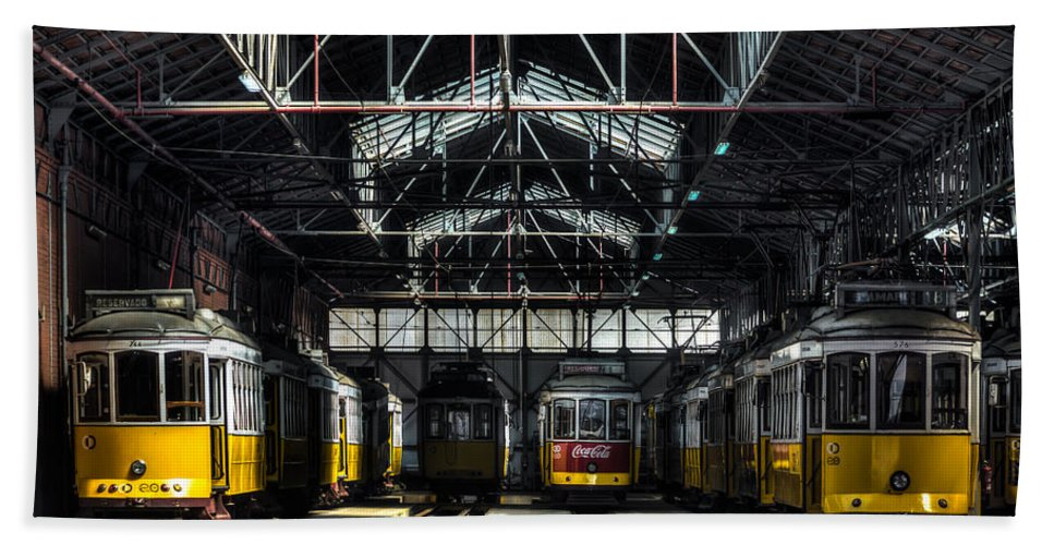 Streetcar Bath Sheet featuring the photograph Streetcars I by Marco Oliveira