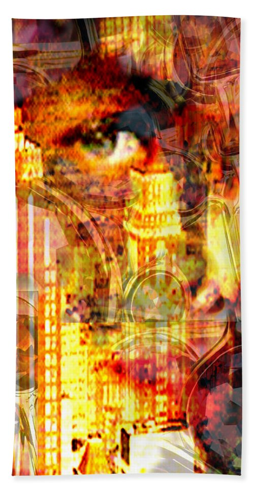 Big City Hand Towel featuring the photograph Streetwalker by Seth Weaver