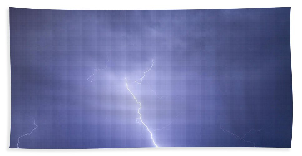 Lightning Hand Towel featuring the photograph Striking Distance by James BO Insogna