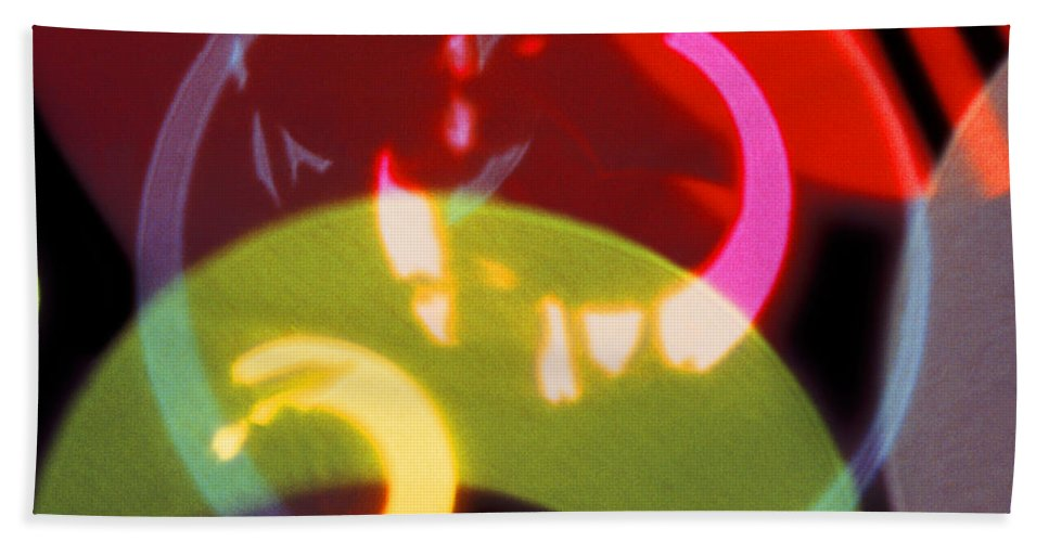 Red & Green Hand Towel featuring the photograph String Of Lights 2 by Mike McGlothlen