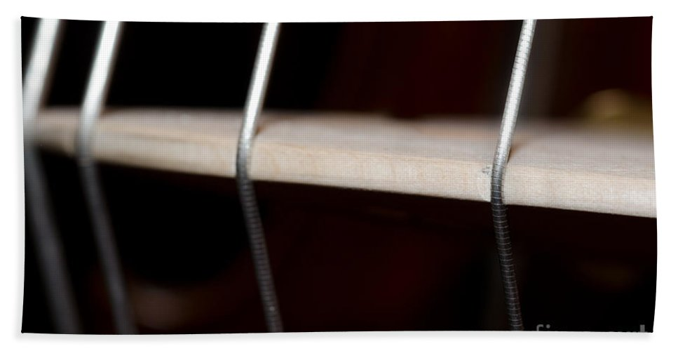 Violin Hand Towel featuring the photograph Strings by Mats Silvan