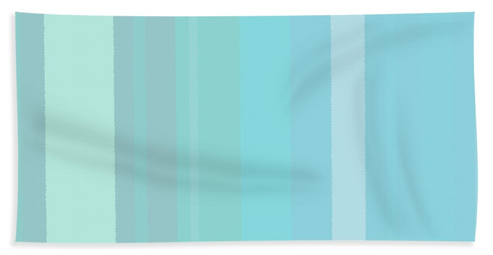 Bath Sheet featuring the digital art Stripes162 by Tim Sladek