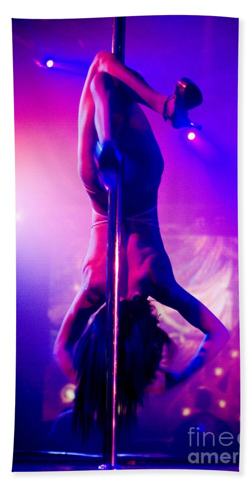 Pole Bath Sheet featuring the photograph Strippers Club by Shay Fogelman
