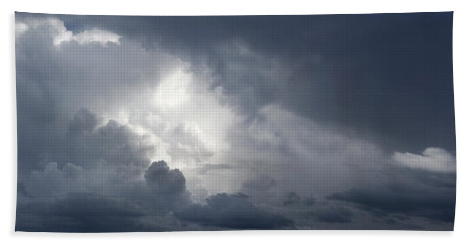 Dramatic Sky Hand Towel featuring the photograph Strom Clouds by Les Cunliffe