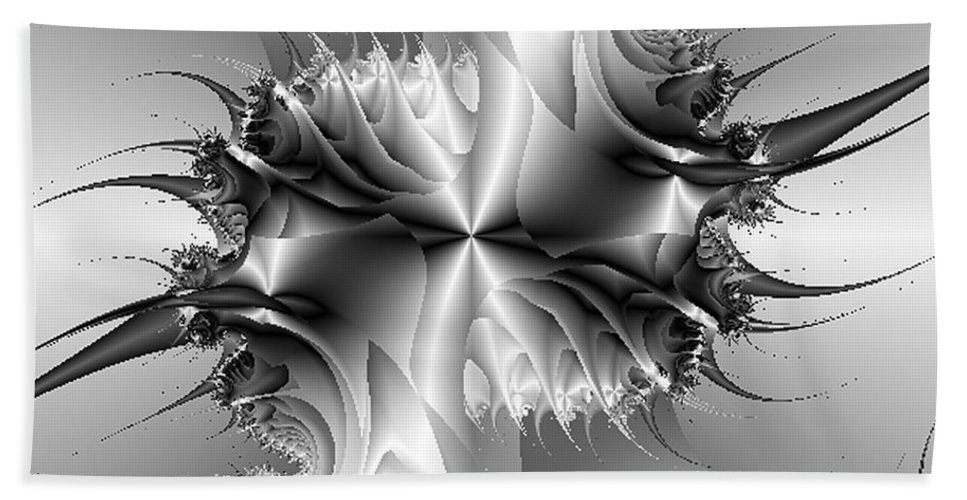Abstract Hand Towel featuring the digital art Strut by Dana Haynes