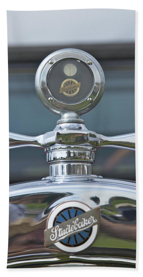 Glenmoor Hand Towel featuring the photograph Studebaker by Jack R Perry