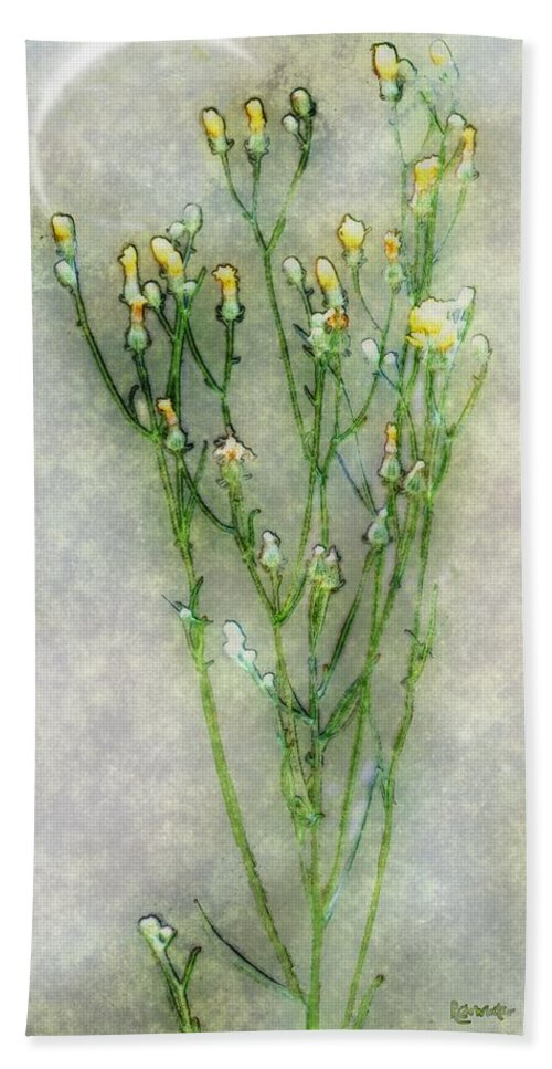Wildflowers Hand Towel featuring the painting Nature Study In Moonlight by RC deWinter