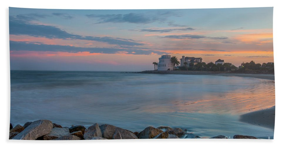 Sunset Bath Sheet featuring the photograph Sullivan's Sunset by Dale Powell