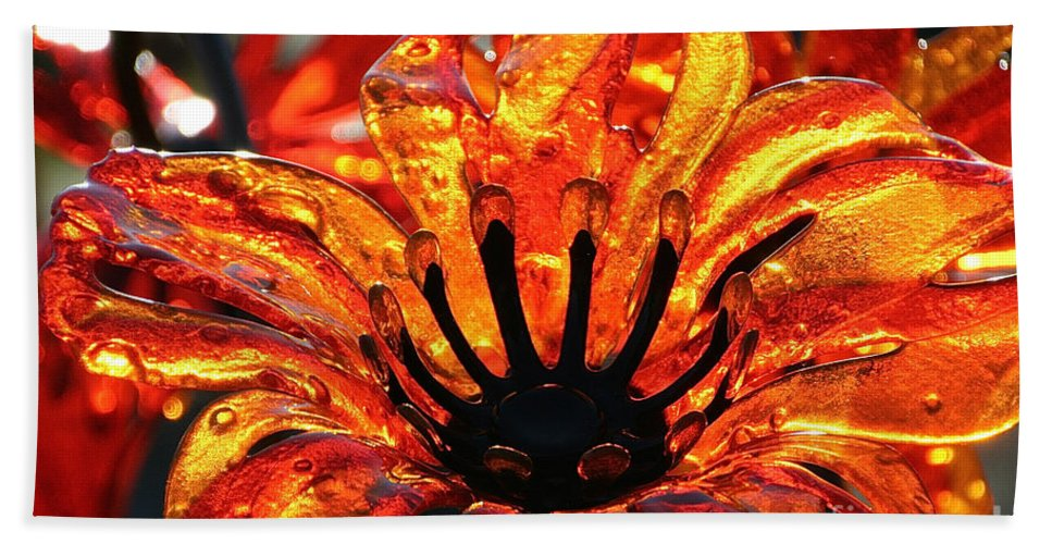 Flower Bath Sheet featuring the photograph Sultry Petals by Susan Herber