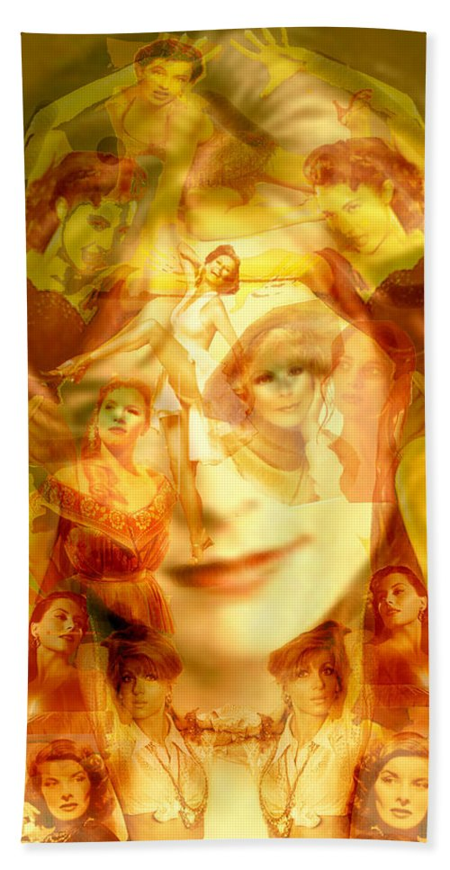 Sum Of All Desires Hand Towel featuring the digital art Sum Of All Desires by Seth Weaver
