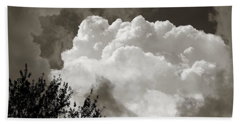 Cloud Bath Sheet featuring the photograph Summer Afternoon Cloudscape by Charles Owens