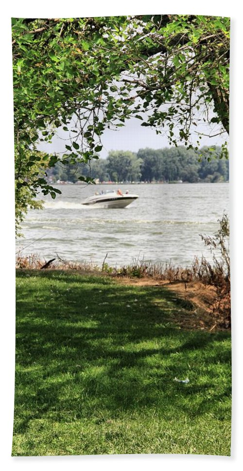 Lake Photograph Bath Sheet featuring the photograph Summer At The Lake by Dan Sproul