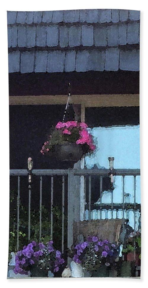 Lethbridge Alberta Canada Bath Sheet featuring the photograph Summer Balcony by Donald S Hall