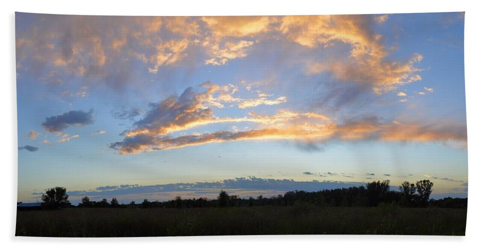 Clouds Hand Towel featuring the photograph Summer Clouds by Bonfire Photography