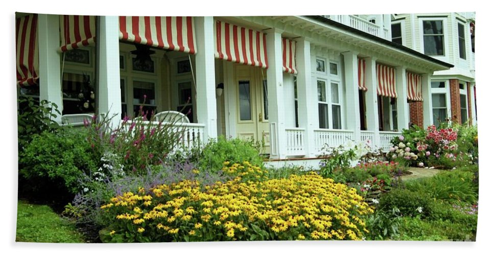 Summer Bath Sheet featuring the photograph Summer Cottage by Kathleen Struckle