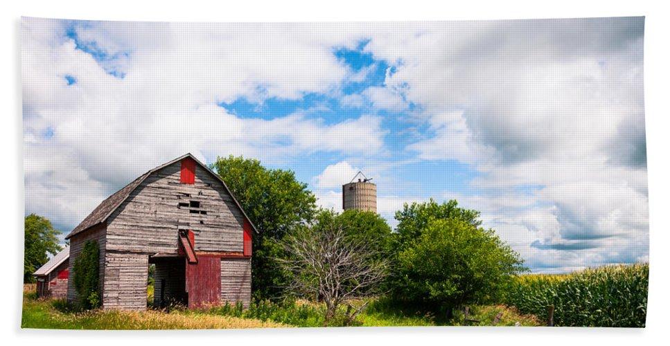 Farm Hand Towel featuring the photograph Summer Farm by Lauri Novak