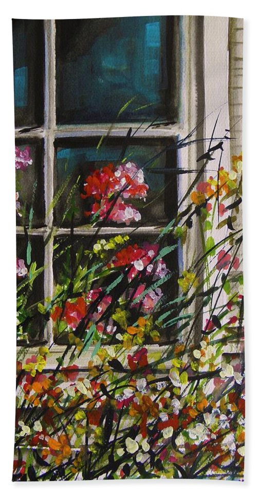 Flowers Bath Sheet featuring the painting Summer Inside And Out by John Williams