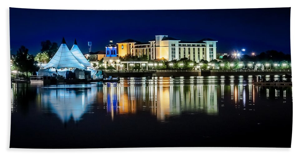 Waterscape Bath Sheet featuring the photograph Summer Reflection by Curtis Cabana