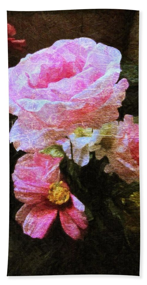 Flowers Hand Towel featuring the photograph Summer Roses by Shannon Story