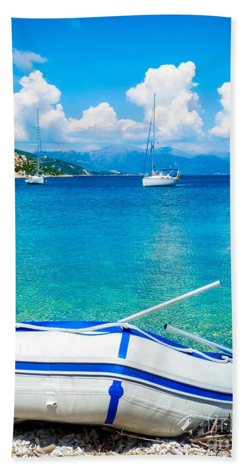 Sailing Bath Sheet featuring the photograph Summer Sailing In The Med by Silken Photography