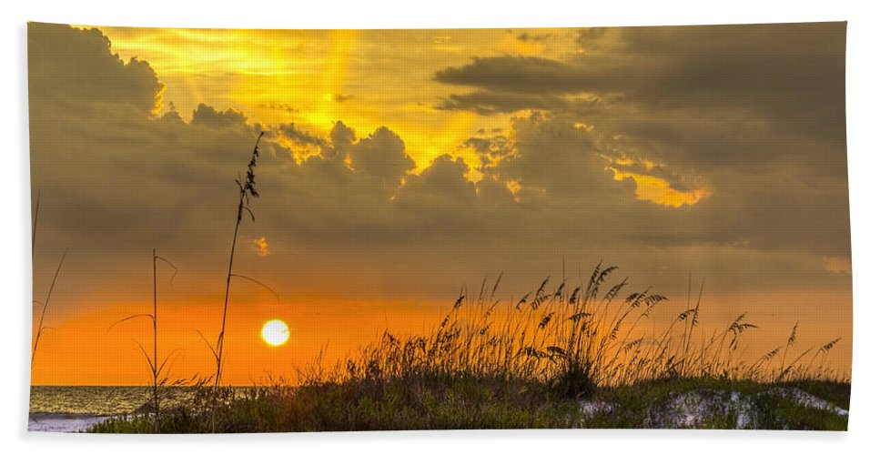 Sarasota Hand Towel featuring the photograph Summer Sun by Marvin Spates