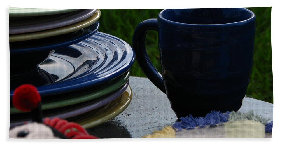 Art For The Wall Hand Towel featuring the photograph Summer Table by Greg Patzer