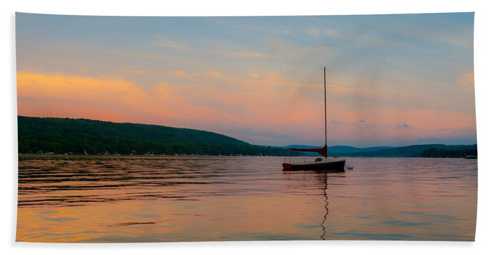 Waneta Bath Sheet featuring the photograph Summers Calm End by Colin Collins