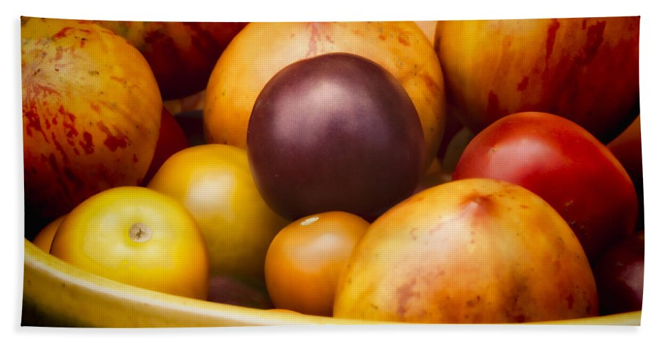 Tomatoes Bath Sheet featuring the photograph Summer's Delight by David Kay