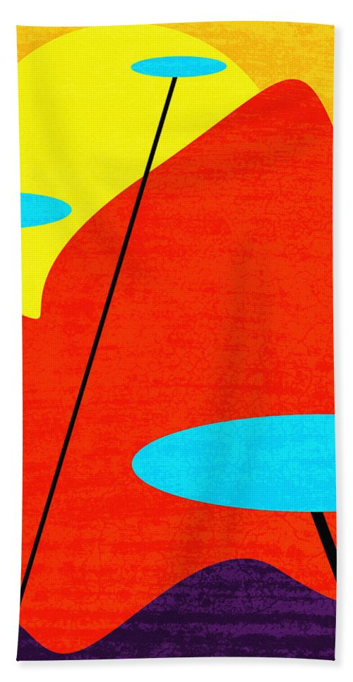 Summertime Blues Hand Towel featuring the digital art Summertime Blues by Richard Rizzo