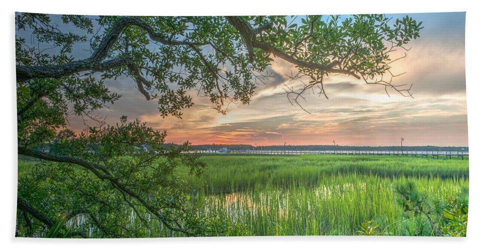 Sunset Hand Towel featuring the photograph Summertime Sunset by Dale Powell
