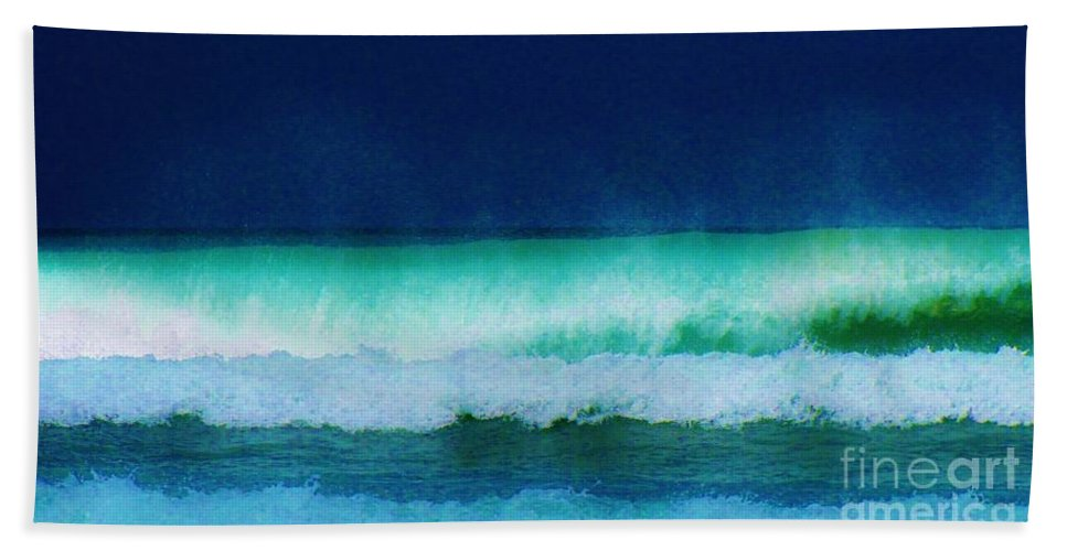 Kerisart Hand Towel featuring the photograph Summertime Surf by Keri West