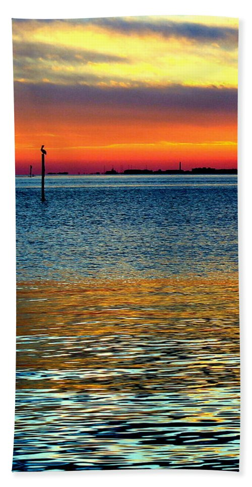 Sunset Hand Towel featuring the photograph Sun Drop by Faith Williams