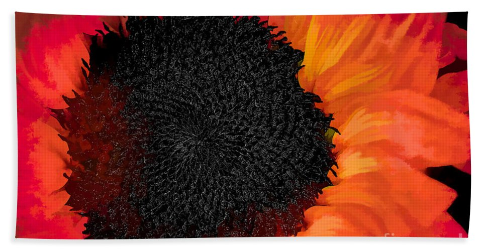 Santa Hand Towel featuring the photograph Sun Fire by Charles Muhle