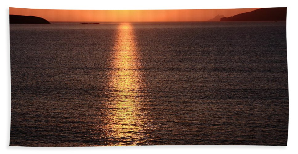 Sunset Hand Towel featuring the photograph County Kerry Sunset by Aidan Moran