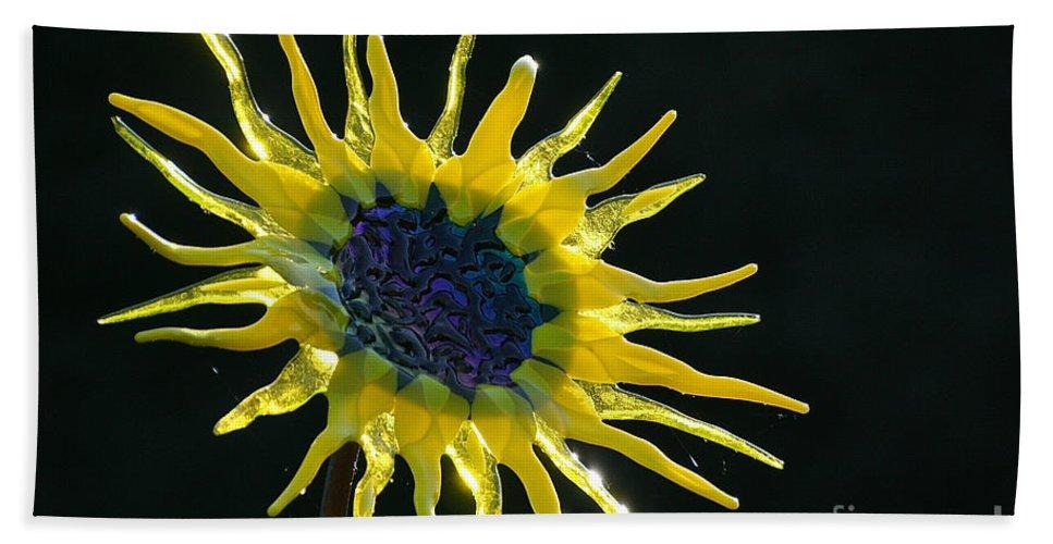 Flower Bath Sheet featuring the photograph Sun Rays by Susan Herber
