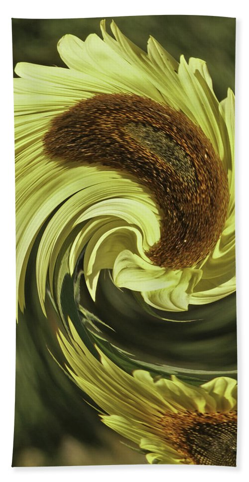 Sunflower Hand Towel featuring the photograph Sun Swirl by James Ekstrom